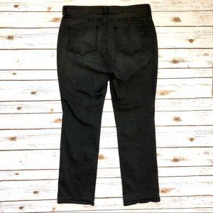 NYDJ Jeans - NYDJ Black Grey Marilyn Uplift Slim Straight Jeans